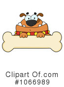 Royalty-Free (RF) Bulldog Clipart Illustration #1066989