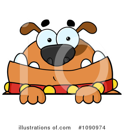 Bulldog Clipart #1090974 by Hit Toon