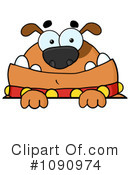 Royalty-Free (RF) Bulldog Clipart Illustration #1090974