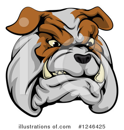 Bulldog Clipart #1246425 by AtStockIllustration