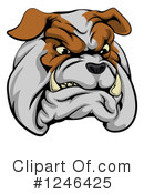 Royalty-Free (RF) Bulldog Clipart Illustration #1246425
