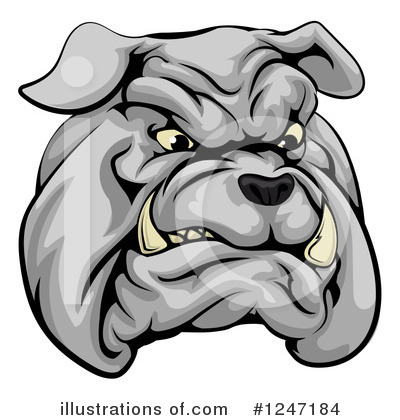 Bulldog Clipart #1247184 by AtStockIllustration