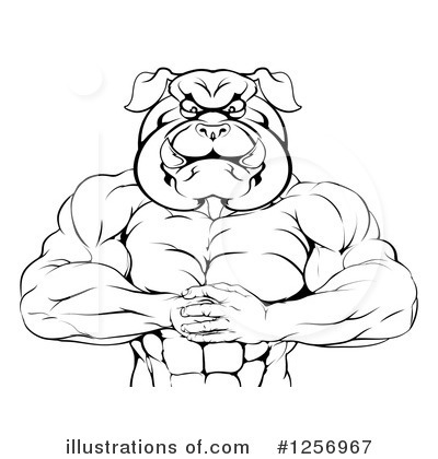 Bulldog Clipart #1256967 by AtStockIllustration