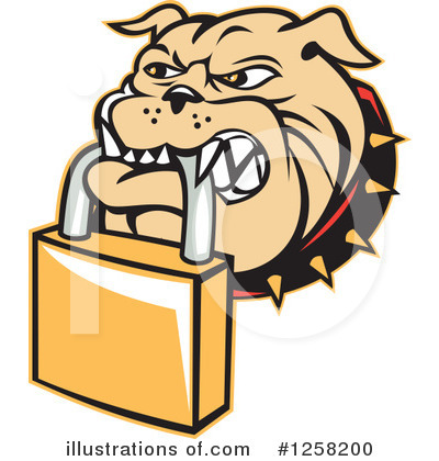 Bulldog Clipart #1258200 by patrimonio