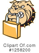 Royalty-Free (RF) Bulldog Clipart Illustration #1258200