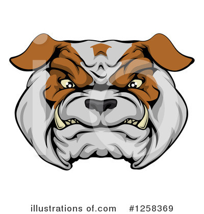 Bulldog Clipart #1258369 by AtStockIllustration