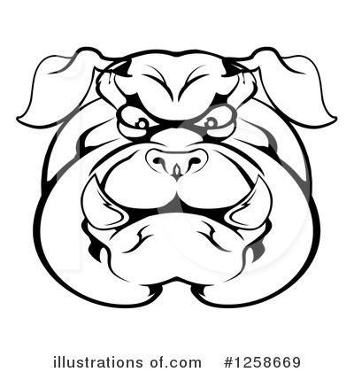 Bulldog Clipart #1258669 by AtStockIllustration
