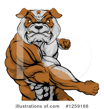 Bulldog Clipart #1259166 by AtStockIllustration