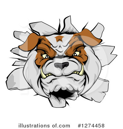 Bulldog Clipart #1274458 by AtStockIllustration