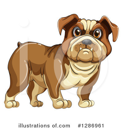 Bulldog Clipart #1286961 by Graphics RF
