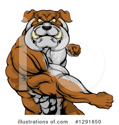 Bulldog Clipart #1291650 by AtStockIllustration