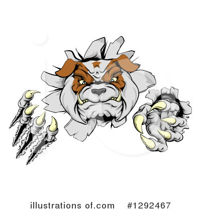 Bulldog Clipart #1292467 by AtStockIllustration