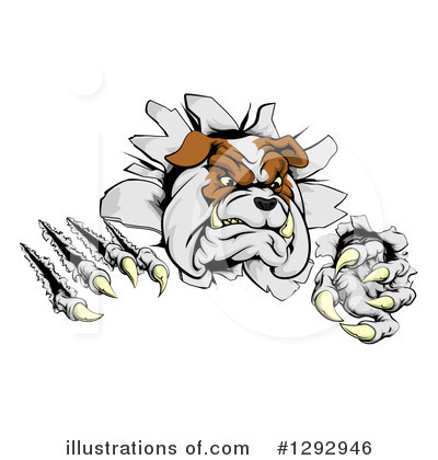 Bulldog Clipart #1292946 by AtStockIllustration