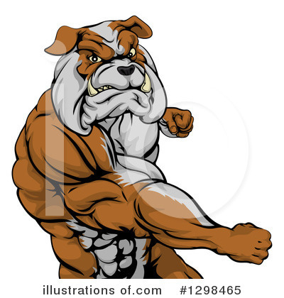 Bulldog Clipart #1298465 by AtStockIllustration
