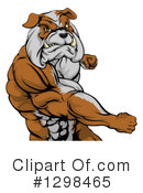 Royalty-Free (RF) Bulldog Clipart Illustration #1298465