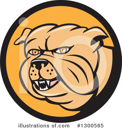 Bulldog Clipart #1300565 by patrimonio