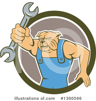 Bulldog Clipart #1300566 by patrimonio