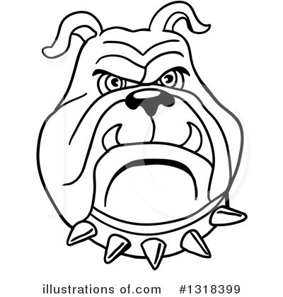 Royalty-Free (RF) Bulldog Clipart Illustration by LaffToon - Stock Sample #1318399