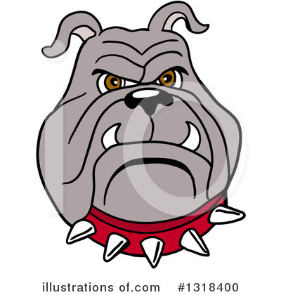 Bulldog Clipart #1318400 by LaffToon