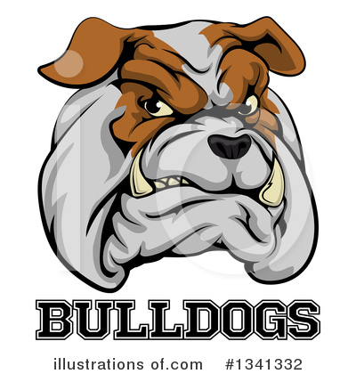 Bulldog Clipart #1341332 by AtStockIllustration