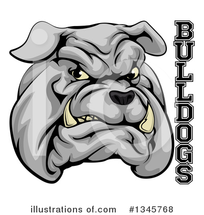 Bulldog Clipart #1345768 by AtStockIllustration