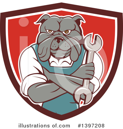 Bulldog Clipart #1397208 by patrimonio