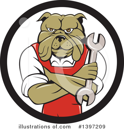 Bulldog Clipart #1397209 by patrimonio