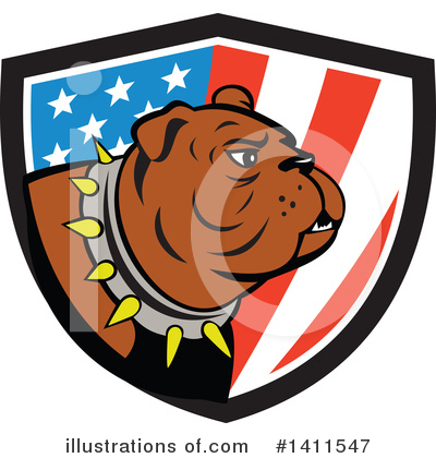 Bulldog Clipart #1411547 by patrimonio