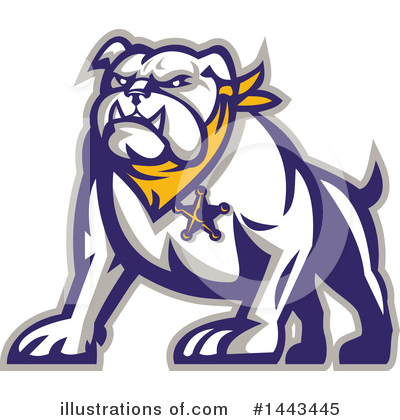 Royalty-Free (RF) Bulldog Clipart Illustration by patrimonio - Stock Sample #1443445