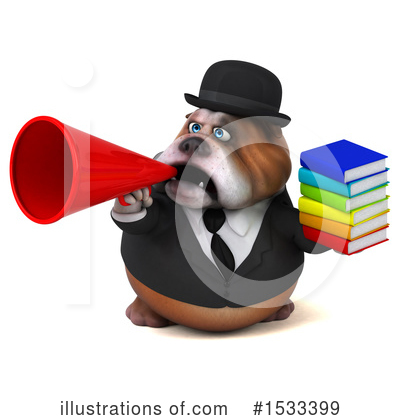 Royalty-Free (RF) Bulldog Clipart Illustration by Julos - Stock Sample #1533399