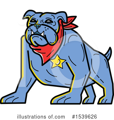 Royalty-Free (RF) Bulldog Clipart Illustration by patrimonio - Stock Sample #1539626