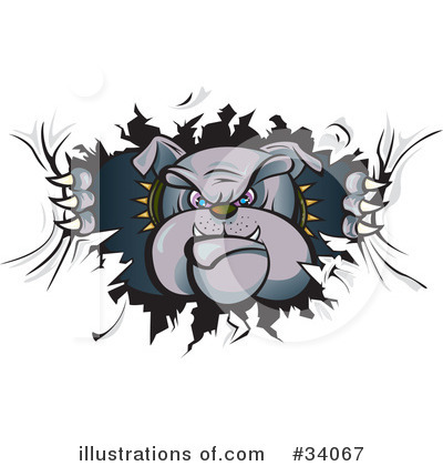 Royalty-Free (RF) Bulldog Clipart Illustration by Paulo Resende - Stock Sample #34067