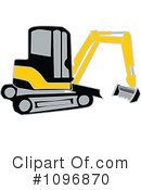Bulldozer Clipart #1096870 by Dennis Holmes Designs
