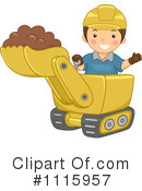 Bulldozer Clipart #1115957 by BNP Design Studio