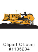 Bulldozer Clipart #1136234 by patrimonio