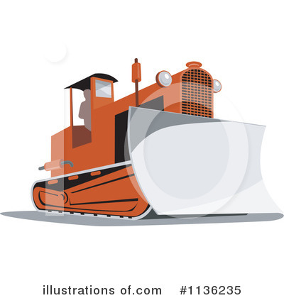 Bulldozer Clipart #1136235 by patrimonio