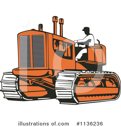 Bulldozer Clipart #1136236 by patrimonio