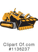 Bulldozer Clipart #1136237 by patrimonio