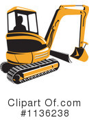 Bulldozer Clipart #1136238 by patrimonio