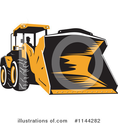Bulldozer Clipart #1144282 by patrimonio