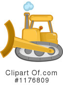 Bulldozer Clipart #1176809 by BNP Design Studio
