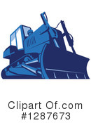 Bulldozer Clipart #1287673 by patrimonio