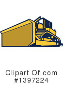 Bulldozer Clipart #1397224 by patrimonio