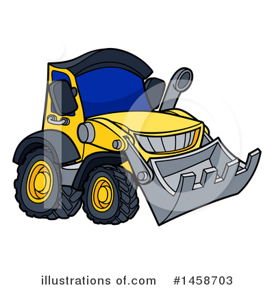 Excavator Clipart #1458703 by AtStockIllustration
