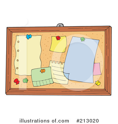 Bulletin Board Clipart #213020 by visekart