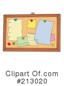 Royalty-Free (RF) Bulletin Board Clipart Illustration #213020