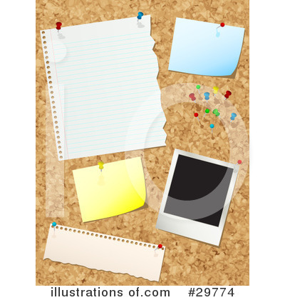 Royalty-Free (RF) Bulletin Board Clipart Illustration by KJ Pargeter - Stock Sample #29774