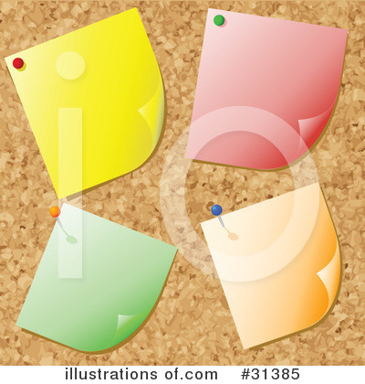 Bulletin Board Clipart #31385 by KJ Pargeter