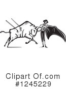 Royalty-Free (RF) Bullfighting Clipart Illustration #1245229