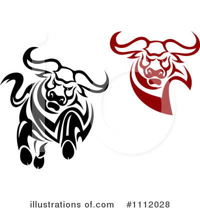 Bull Clipart #1112028 by Vector Tradition SM
